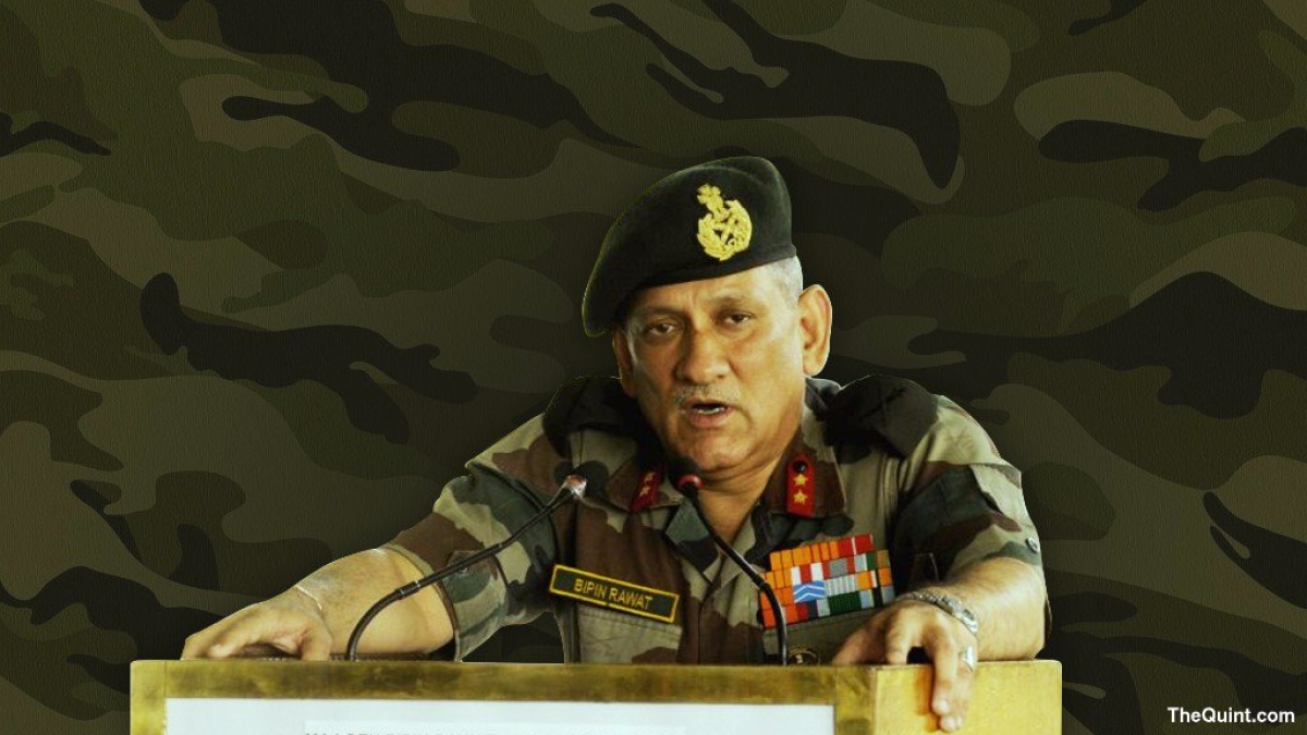Army chief Bipin Rawat.