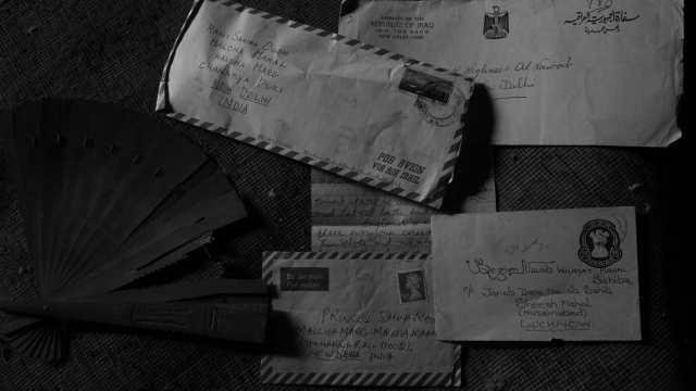 Old letters addressed to the royal family.