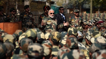 Prime Minister Narendra Modi reached the Gurez Valley along the LoC in Jammu and Kashmir to celebrate Diwali with the troops.