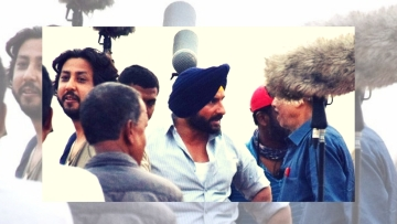 Saif Ali Khan during the filming of the first instalment of Netflix series,<i> Sacred Games</i>.