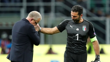 Gianluigi Buffon ended his 20-year Italy career on Monday.