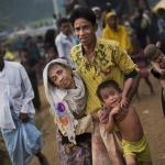 Rohingya refugees in Bangladesh.
