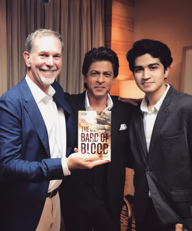 Netflix CEO Reed Hastings, Shah Rukh Khan and Bilal Siddiqi at the launch.