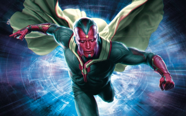 Vision - the Marvel superhero on team Avengers.