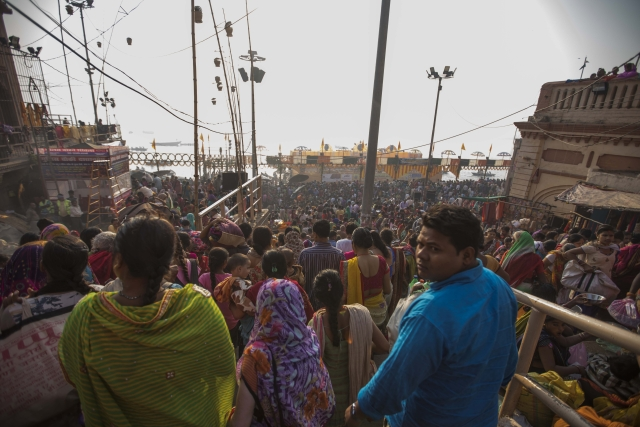 Thousands of people gather in Varanasi for Dev Diwali.