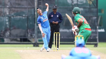 India lost by eight wickets to Bangladesh in the Under-19 Asia Cup.