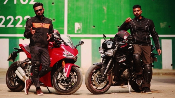 Ducati SuperSport S and Triumph Street Triple RS go for a weekend ride.