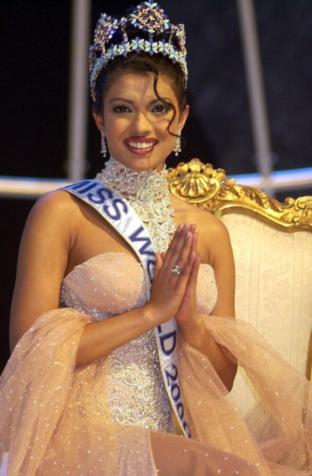 Priyanka Chopra, celebrated actor, producer and model was the winner of the Miss World 2000 pageant.