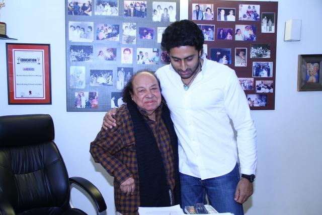 Taneja with Abhishek Bachchan.