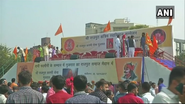 Protests against 'Padmavati' in Gujarat.