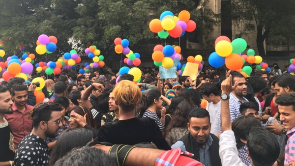 The 10th Queer Pride took place at Barakhamba Road in New Delhi on 12 November.