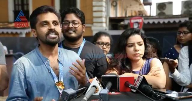 <i>S Durga </i>actors Kannan Nayar and Rajshree Deshpande speak to the media at IFFI.