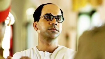 Rajkummar Rao as Subhas Chandra Bose in Bose Dead/ Alive.
