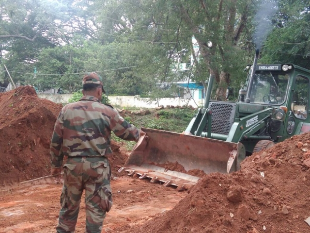 For military's 62 acres, BBMP will provide 207 acres to them.