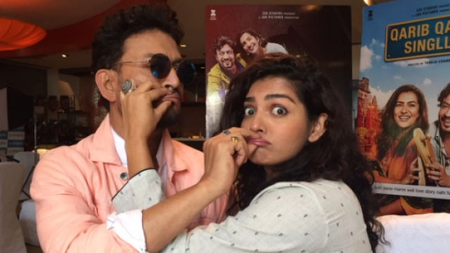 Irrfan Khan and Parvathy during the promotions of <i>Qarib Qarib Singlle</i>.