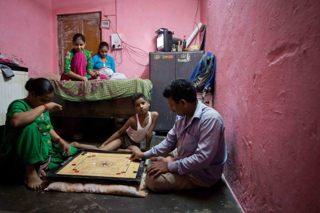 Families in  Chandrawal basti can now enjoy quality time indoors.