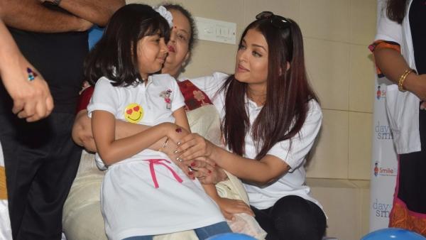Aishwarya Rai Bachchan shares a moment with daughter Aaradhya.