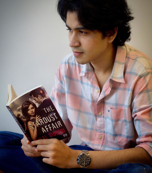 Bilal Siddiqi with his third book <i>The Stardust Affair</i>.