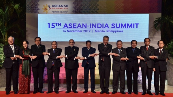 Prime Minister Narendra Modi at the ASEAN Summit.