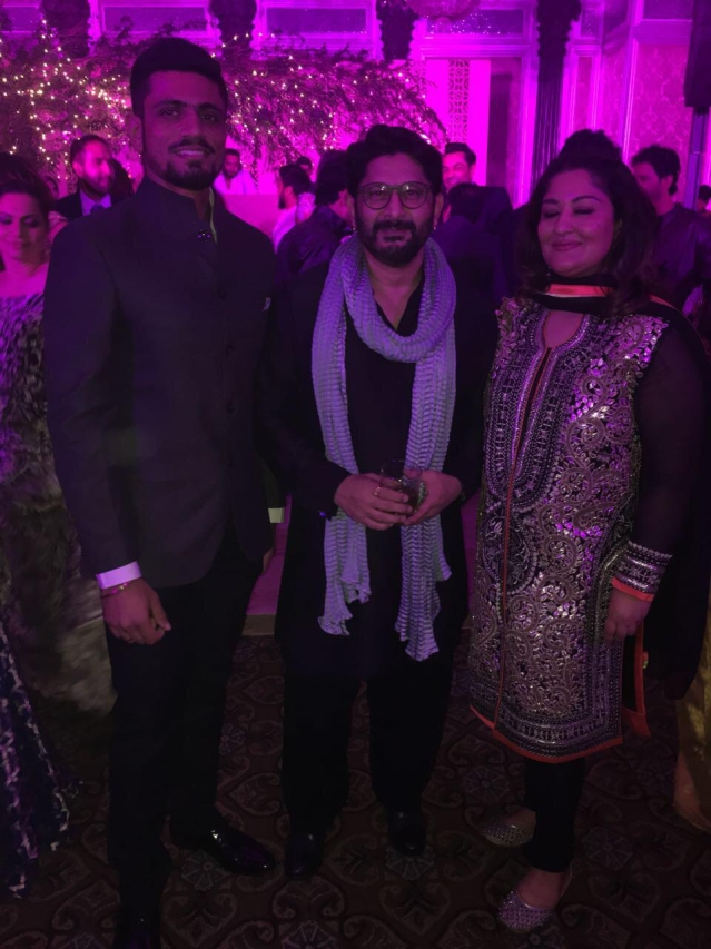 Arshad Warsi at Zaheer-Sagarika wedding reception.