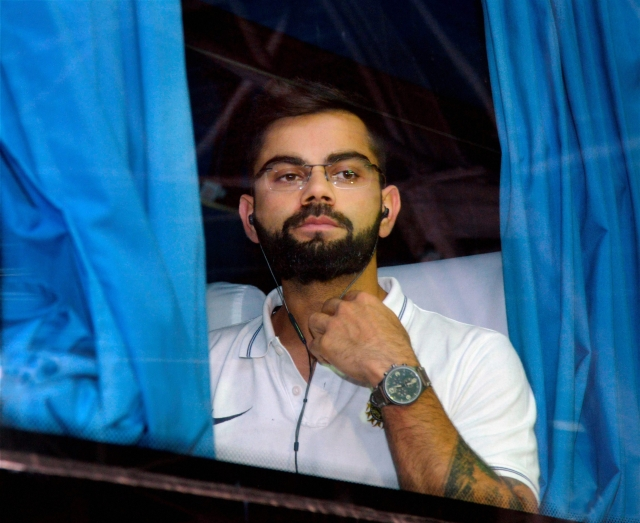 Virat Kohli and his Indian team arrived in the city on Sunday.