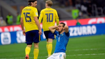 Italy lost 1-0 on aggregate against Sweden.