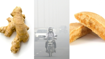 Ginger and Jaggery can help build immunity against pollution.