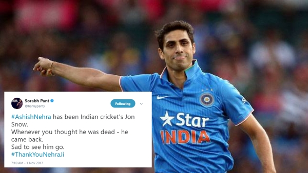 Bowled over by Nehra's candid goodbye, the rest of Twitter could not help but honour the fast bowling legend.