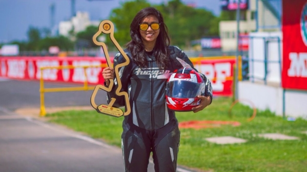 21-year-old Aishwarya Pissay is the first ever national two-wheeler racing champion in the girls category.