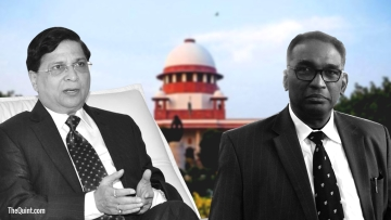 CJI Dipak Misra (left) took exception to an order passed by a bench including Justice Chelameshwar (right) that set up a Constitution Bench to look into allegations of bribery in the judiciary
