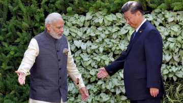 PM Modi with Chinese President Xi Jinping.