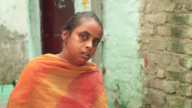 Reshma has no electric metre installed in her house in Sanjay Basti due to pending dues not paid by the previous owner.
