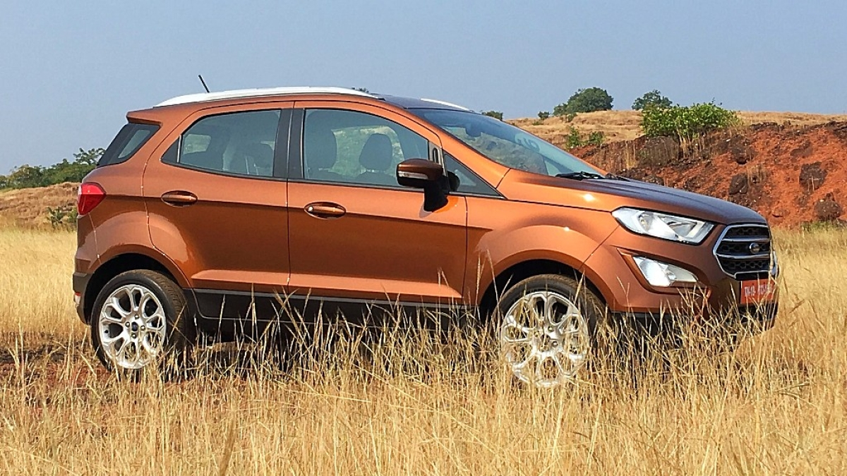 The new Ford EcoSport gets a new front-end design and a new petrol engine option.