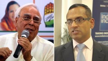 Congress member Kapil Sibal and NSA Ajit Doval's son Shaurya.