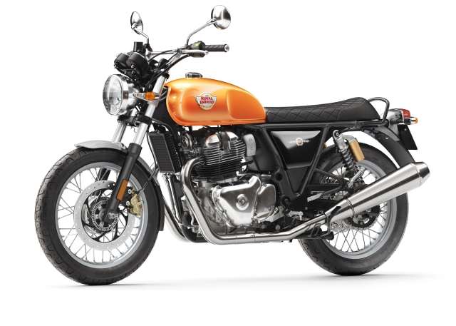 Royal Enfield Interceptor 650 stays true to its classic styling heritage.