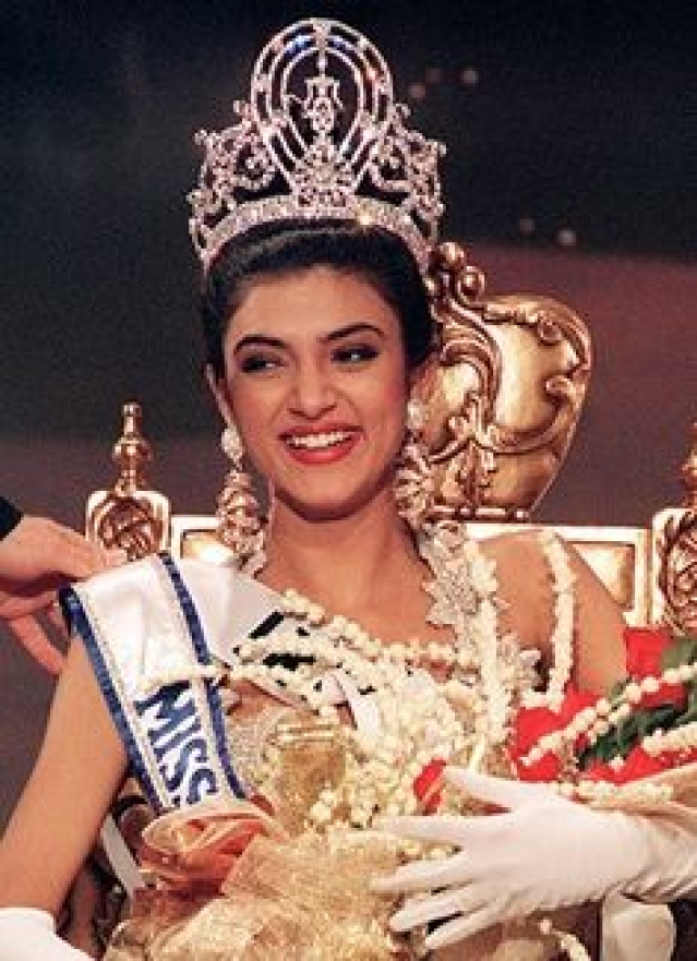 Sushmita Sen, actress and model, was crowned Miss Universe in 1994.
