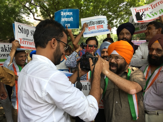 Paramjit Singh Pamma knows how to grab the media's attention.