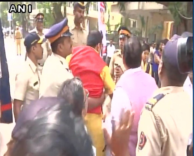 Protests against 'Padmavati' in Mumbai.