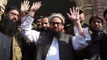 Hafiz Saeed, co-founder of the LeT and head of the  Jamaat-ud-Dawa.