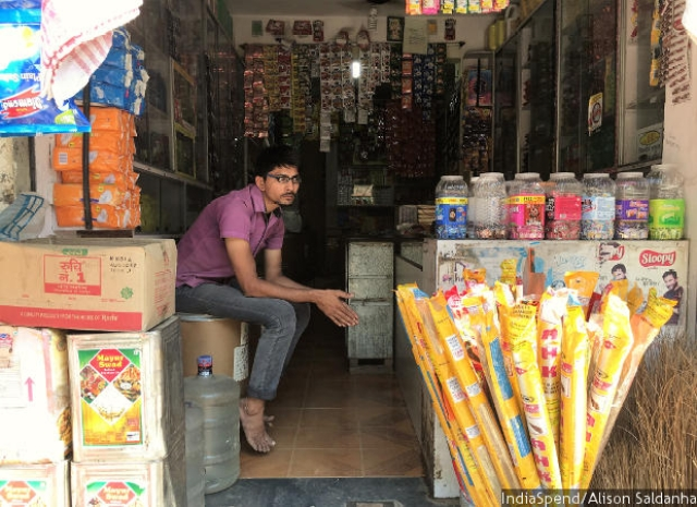 Jagdish Chaudhari of Poornima Kirana stores in Kupari Naka, Virar, said that since the introduction of GST in July, his shop's profit margin had dropped and the inflow of customers had reduced by half with many buying goods in lesser quantities.