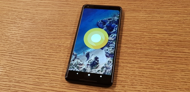 Pixel 2 XL comes with Android Oreo out-of-box.