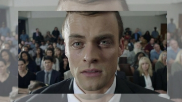 Andreas Damm as Oscar Pistorius in a still from <i>Oscar Pistorius: Blade Runner Killer</i>.