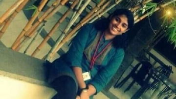 S Swathi, the Infosys employee who was hacked to death at a local train station in Chennai.