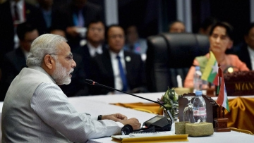 Representational image of PM Modi addressing leaders of countries in Southeast Asia
