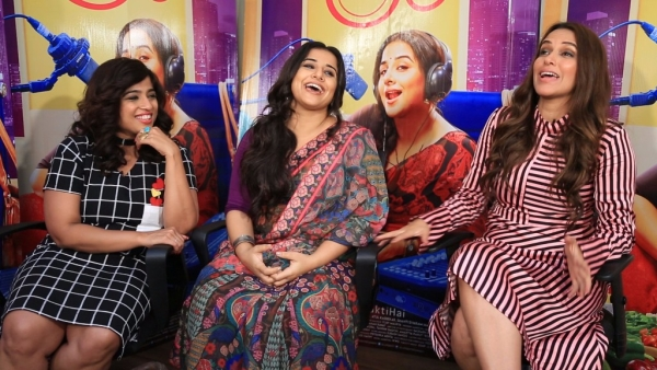Vidya, Malishka and Neha caught candid while promoting <i>Tumhari Sulu.</i>