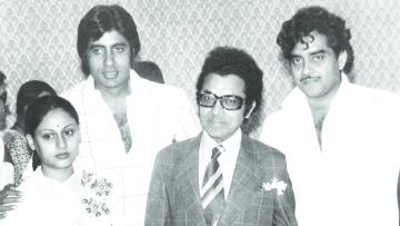 Roshan Taneja with Jaya and Amitabh Bachchan and Shatrughan Sinha.