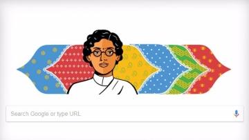 The Google doodle remembering  Anasuya Sarabhai.