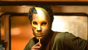 A still from <i>S Durga</i>.