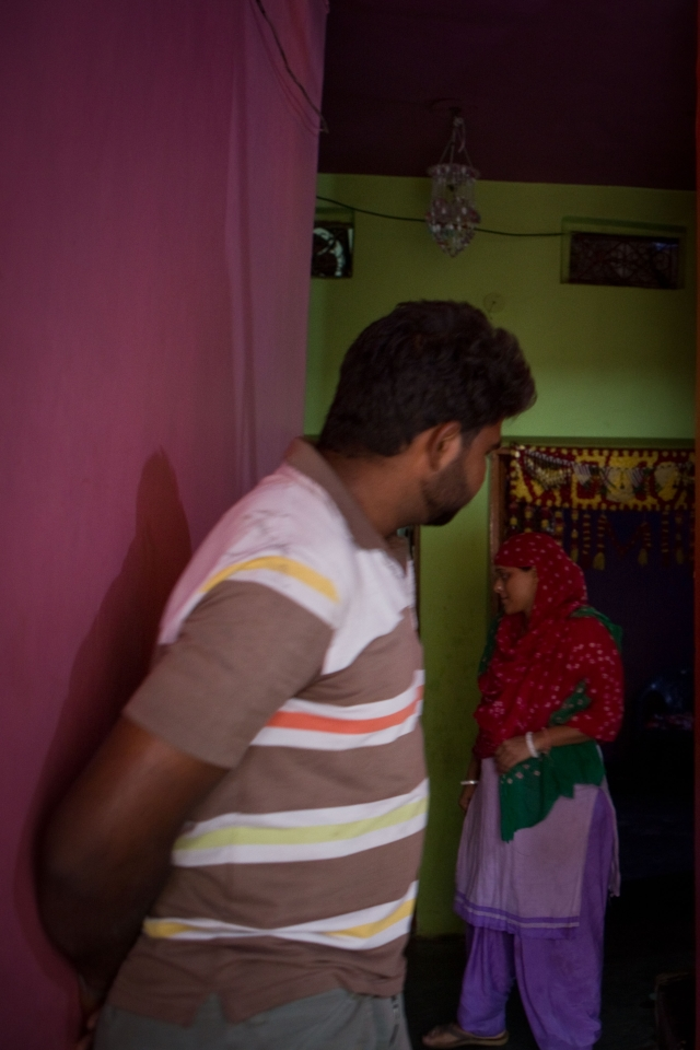 Pooja is ashamed of the work her husband Brijesh has to do to earn the daily bread for their family. They got married in 2008.