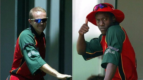 Two Zimbabwean players, Andy Flower and Henry Olonga,  demonstrated a protest against the country's regime during the cricket World Cup in 2003.